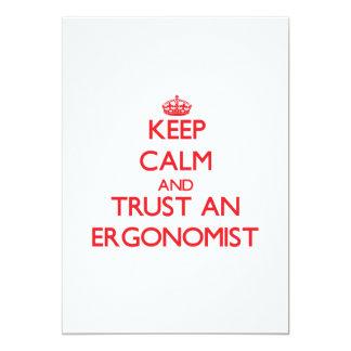Keep Calm and Trust an Ergonomist Custom Invite