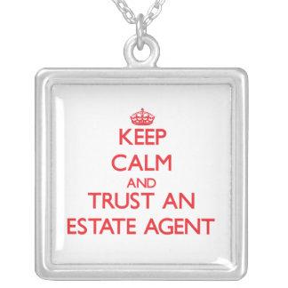 Keep Calm and Trust an Estate Agent Pendants