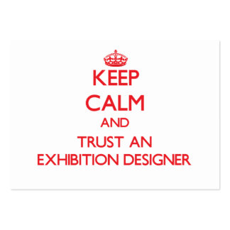 Keep Calm and Trust an Exhibition Designer Business Card