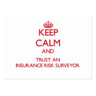 Keep Calm and Trust an Insurance Risk Surveyor Business Card