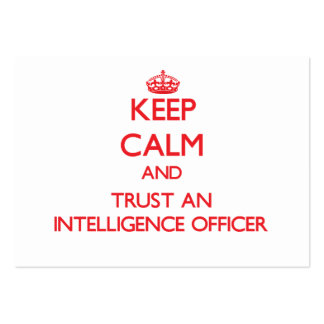 Keep Calm and Trust an Intelligence Officer Large Business Cards (Pack Of 100)
