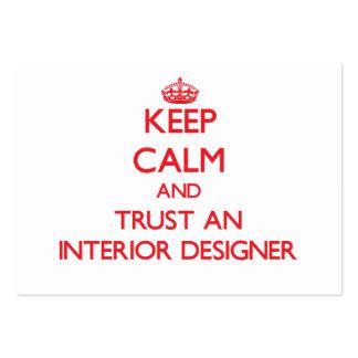 Keep Calm and Trust an Interior Designer Business Cards