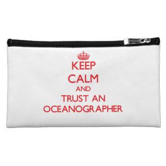 Keep Calm and Trust an Oceanographer Cosmetics Bags