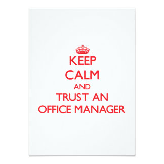 Keep Calm and Trust an Office Manager Personalized Invite
