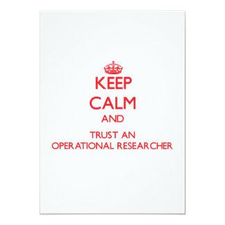Keep Calm and Trust an Operational Researcher Custom Announcement