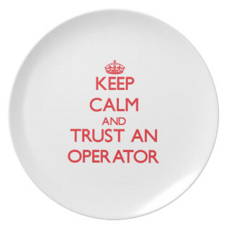 Keep Calm and Trust an Operator Dinner Plates