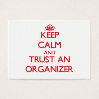Keep Calm and Trust an Organizer Business Card