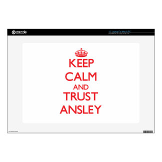 """Keep Calm and TRUST Ansley 15"""" Laptop Skin"""