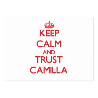 Keep Calm and TRUST Camilla Business Card Templates