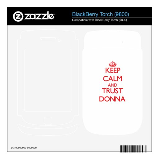 Keep Calm and TRUST Donna Skin For BlackBerry