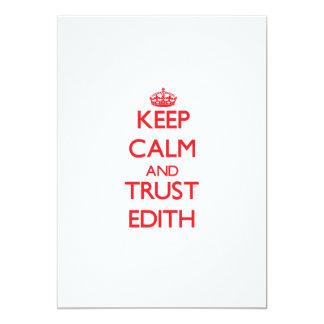 Keep Calm and TRUST Edith 5x7 Paper Invitation Card