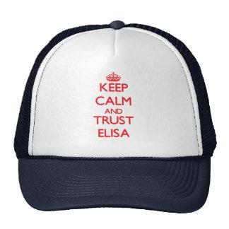Keep Calm and TRUST Elisa Mesh Hats