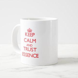 Keep Calm and TRUST Essence 20 Oz Large Ceramic Coffee Mug