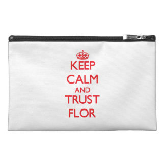 Keep Calm and TRUST Flor Travel Accessory Bags