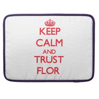 Keep Calm and TRUST Flor Sleeve For MacBooks