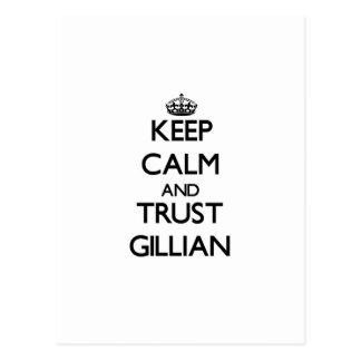 Keep Calm and trust Gillian Postcard