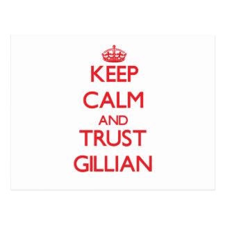 Keep Calm and TRUST Gillian Post Cards