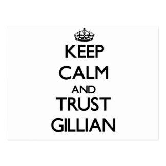 Keep Calm and trust Gillian Post Card