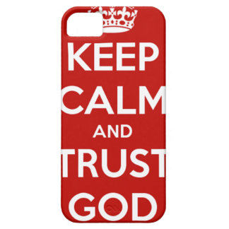 Keep Calm and Trust God iPhone SE/5/5s Case