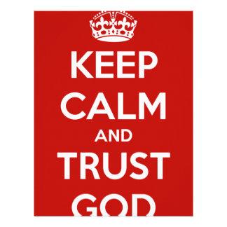 Keep Calm and Trust God Letterhead