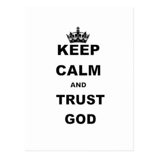KEEP CALM AND TRUST GOD.png Postcard