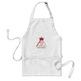 Keep Calm and Trust in God's Mercy Adult Apron