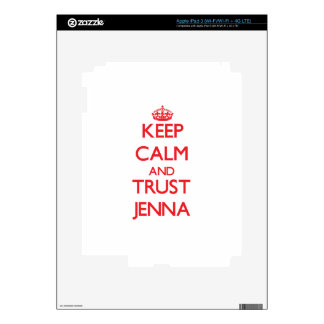 Keep Calm and TRUST Jenna iPad 3 Skin