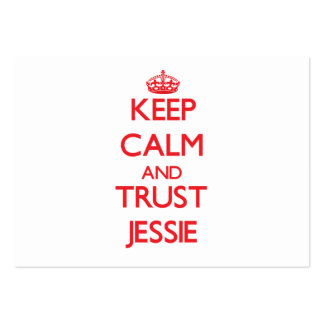 Keep Calm and TRUST Jessie Large Business Cards (Pack Of 100)
