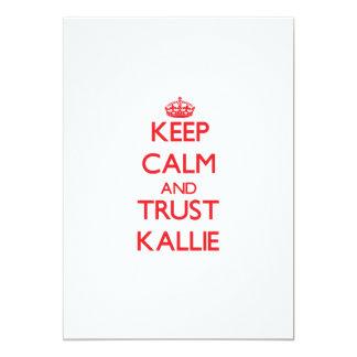 Keep Calm and TRUST Kallie 5x7 Paper Invitation Card