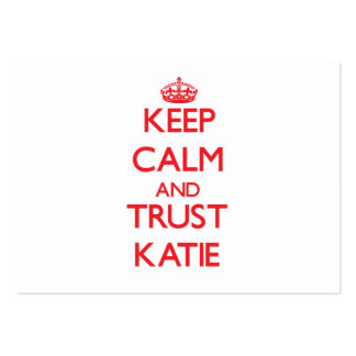 Keep Calm and TRUST Katie Large Business Cards (Pack Of 100)