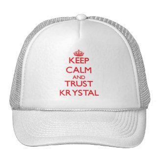 Keep Calm and TRUST Krystal Hat