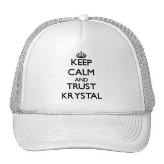 Keep Calm and trust Krystal Mesh Hat