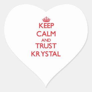 Keep Calm and TRUST Krystal Heart Sticker