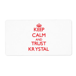 Keep Calm and TRUST Krystal Personalized Shipping Labels