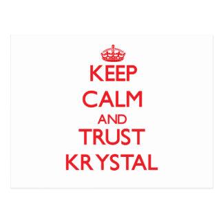 Keep Calm and TRUST Krystal Post Cards
