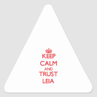Keep Calm and TRUST Leia Triangle Sticker