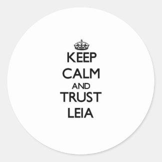 Keep Calm and trust Leia Classic Round Sticker