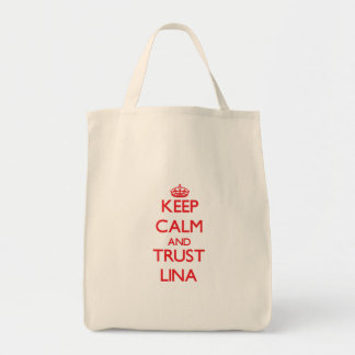Keep Calm and TRUST Lina Grocery Tote Bag