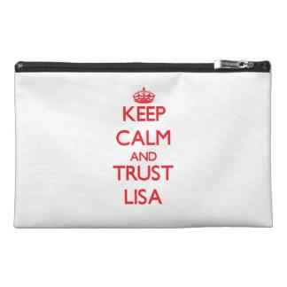 Keep Calm and TRUST Lisa Travel Accessory Bag