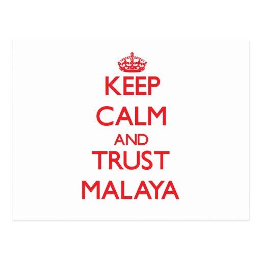 Keep Calm and TRUST Malaya Postcard