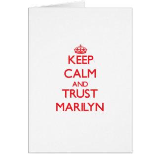 Keep Calm and TRUST Marilyn Cards