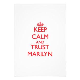 Keep Calm and TRUST Marilyn Custom Invitations