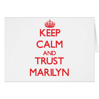 Keep Calm and TRUST Marilyn Greeting Card