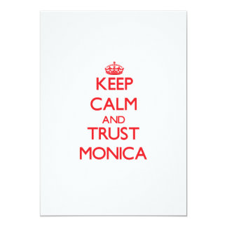 Keep Calm and TRUST Monica 5x7 Paper Invitation Card