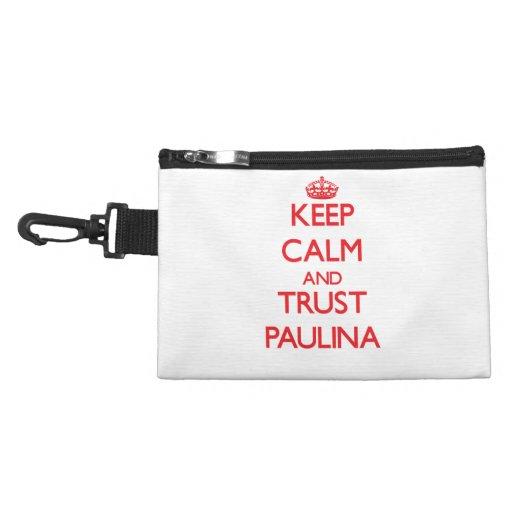 Keep Calm and TRUST Paulina Accessories Bag