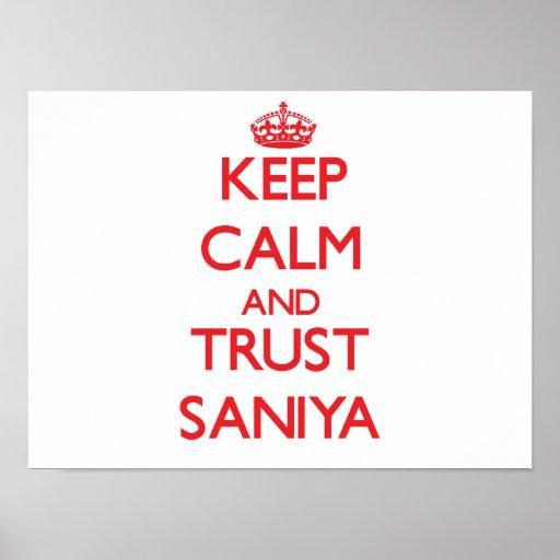 Keep Calm and TRUST Saniya Posters