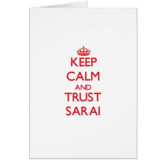 Keep Calm and TRUST Sarai Greeting Card