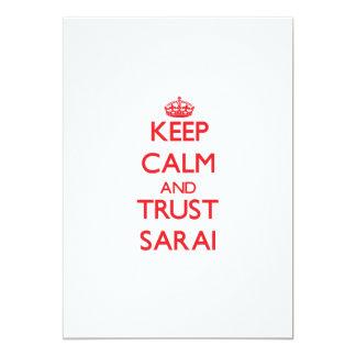 Keep Calm and TRUST Sarai 5x7 Paper Invitation Card