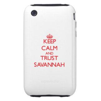 Keep Calm and TRUST Savannah iPhone 3 Tough Case