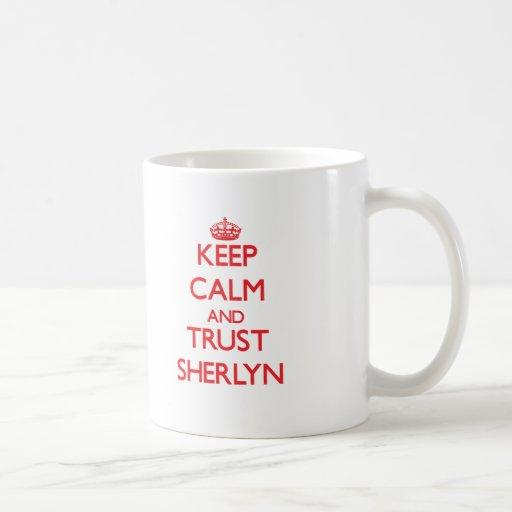Keep Calm and TRUST Sherlyn Coffee Mugs